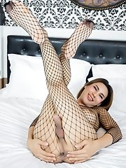 Guys Who Love Teen Tgirls With Fishnets Plus An Erotic Performance Will Appreciate Ladyboy Som Som's Solo Cumming Session!