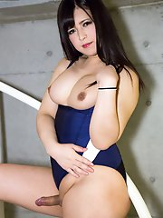 We Enter The Month Of May In Blistering Fashion With This Third Dazzling Display From Kyoto Cutie Mayu. Flaunting Her Tasty Assets In A Lycra Swimsuit