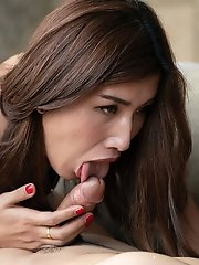 Ladyboy Allison Sucks Hard Cock